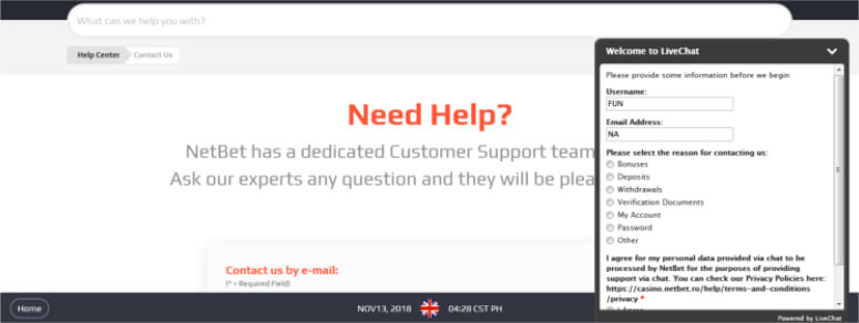 Netbet Customer Service Number